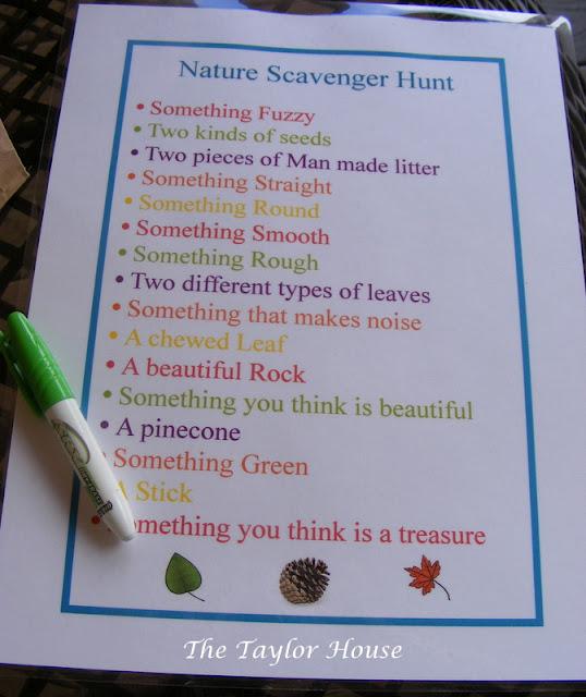 Backyard Nature Scavenger Hunt :  wwwthetaylorhousecom201203naturescavengerhuntforkidshtml