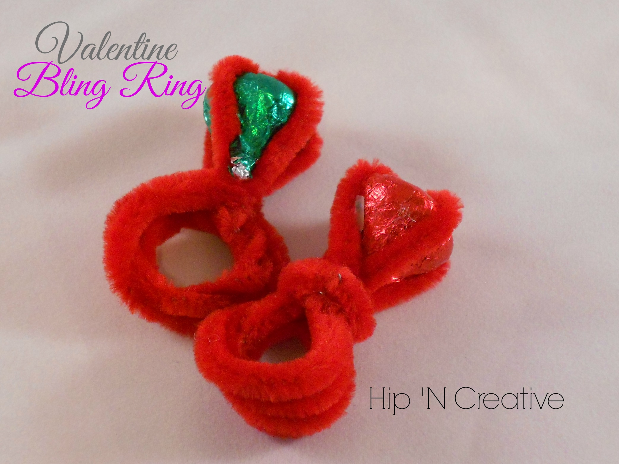 Pipe cleaner rings tutorial hip n 39 creative for Pipe craft