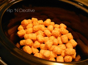 Slow Cooker Recipe: {Chicken Tater Tot Casserole} | Hip N' Creative