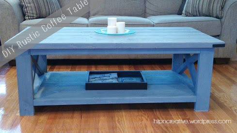 Hip 'N Creative |DIY Ana White Inspired Rustic Coffee Table via hipncreativewordpress.com