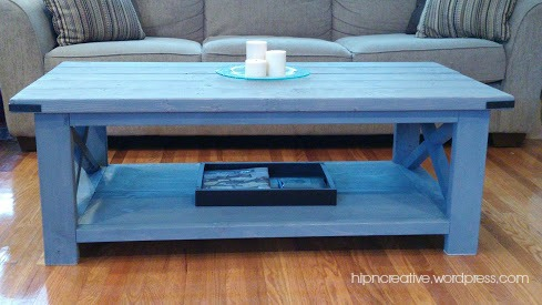 DIY Rustic Coffee Table inspired by Ana White