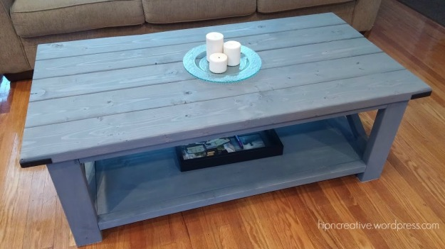 DIY Rustic Coffee Table inspired by Ana White | Hip 'N Creative