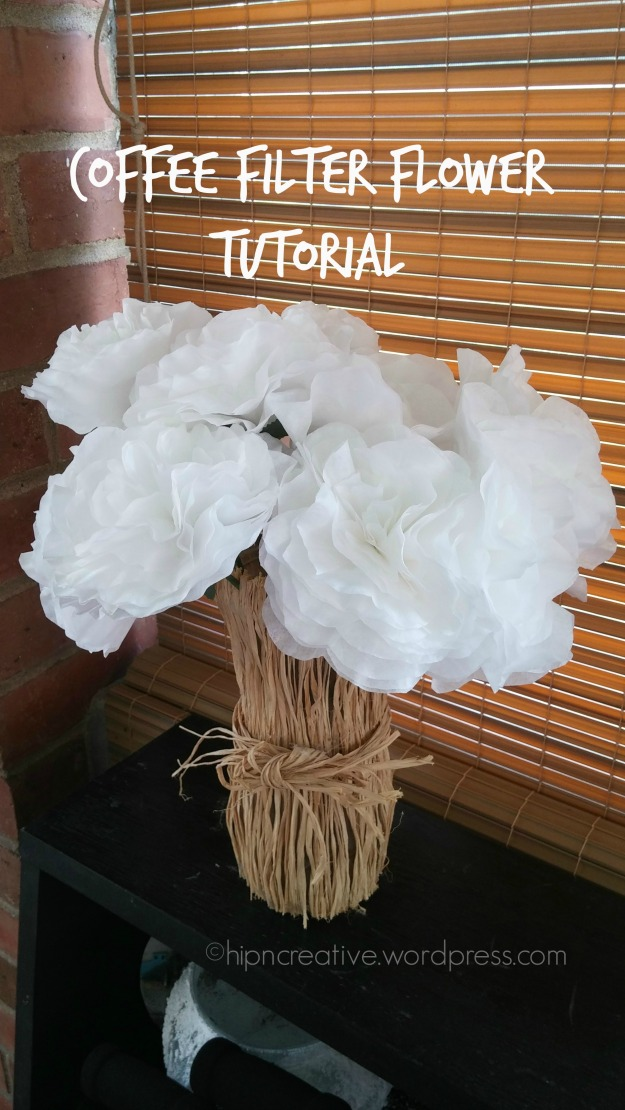 hipncreative.wordpress.com | DIY coffee filter flower tutorial
