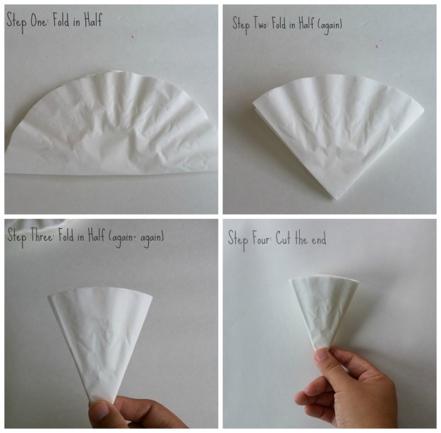 hipncreative.wodpress.com | DIY coffee filter flower tutorial