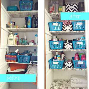 Bathroom Closet Organization | https://www.hipncreative.wordpress.com