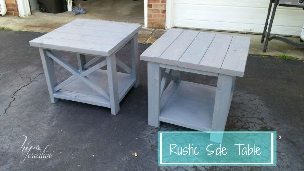 DIY Anna White Rustic Side Table | hipncreative.wordpress.com