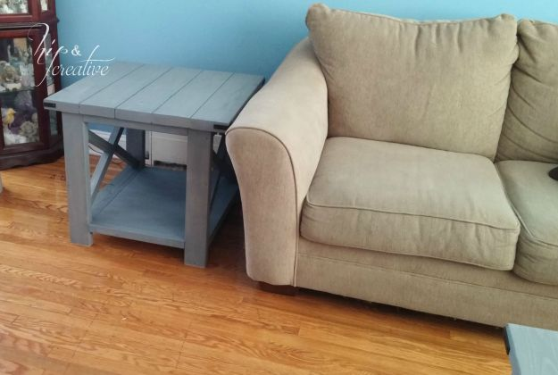 DIY Rustic X Ana White End Table | hipncreative.wordpress.com