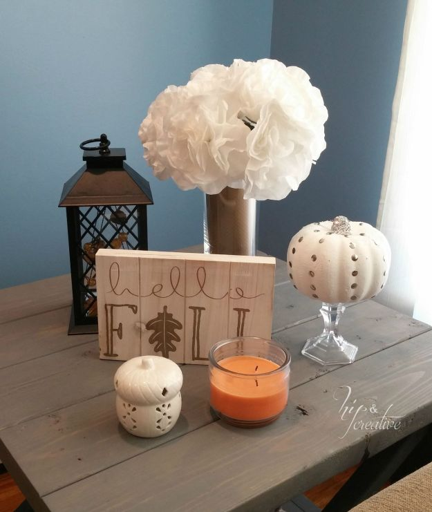 DIY studded pumpkin fall decor | hipncreative.wordpress.com
