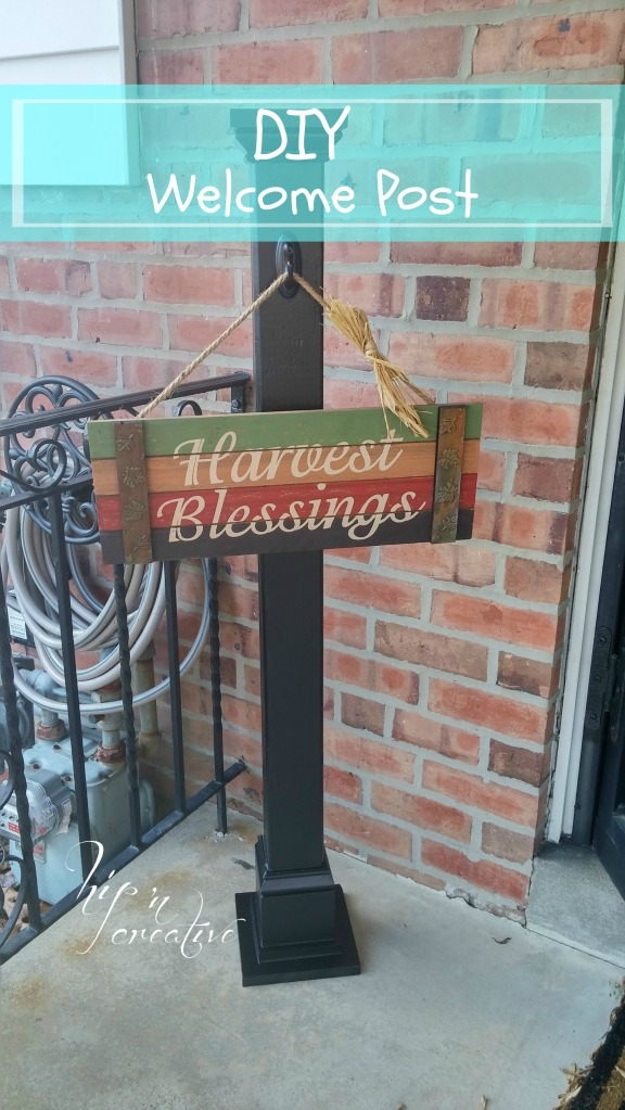An awesome DIY Welcome Post via hipncreative.wordpress.com