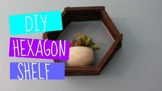 DIY Hexagon Shelf Tutorial
