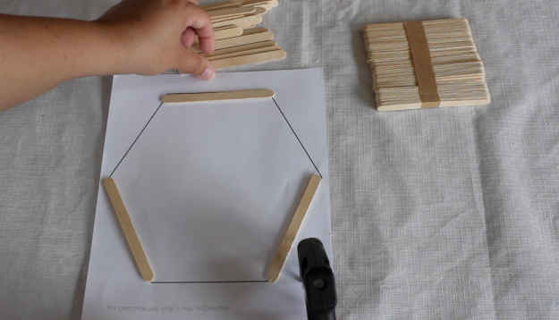 DIY Hexagon Shelf Tutorial, Step 1