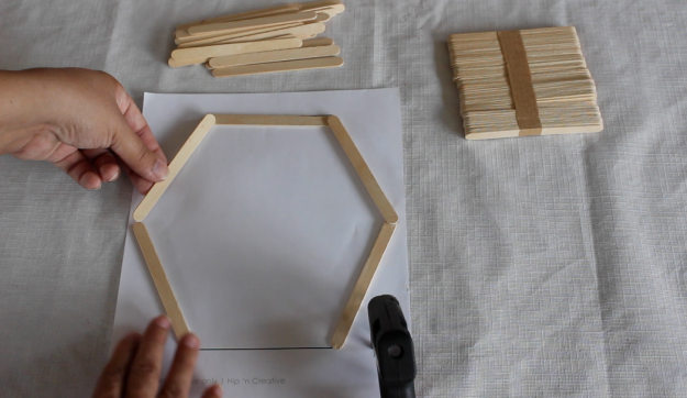 DIY Hexagon Shelf 3