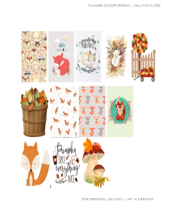 Fall Fox Cuties | Hipncreative