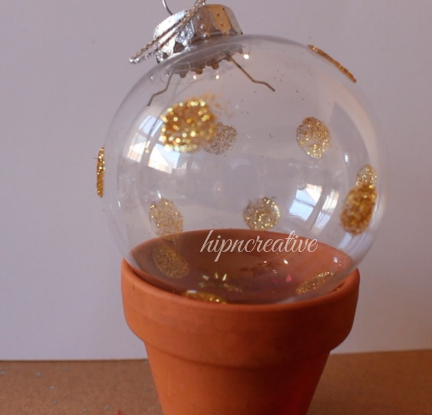 glitter ball ornament