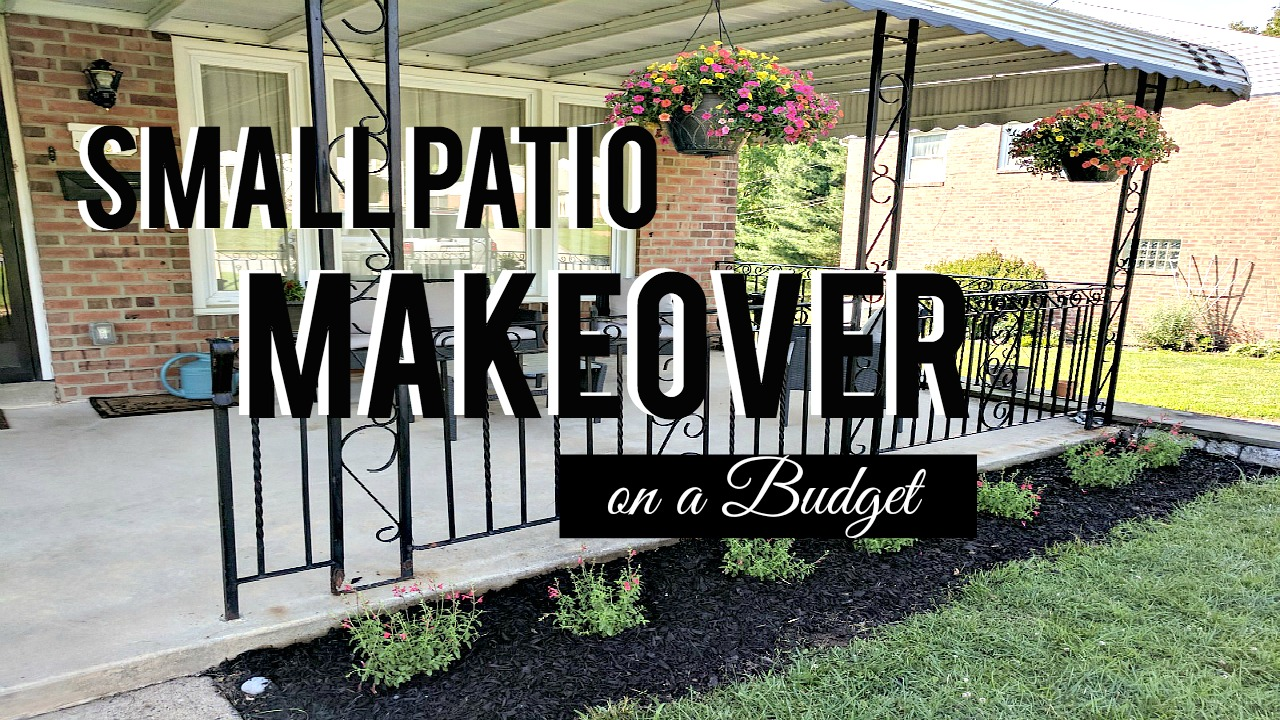 Iu0027m Super Excited To Be Sharing With You My First Of TWO Small Patio  Makeover On A Budget Series! Over The Weekend My Wonderful Husband And I   With The Help ...